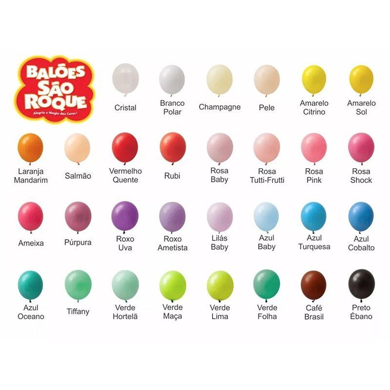 Balão Bexiga para Festa Numero 6,5 cores Sortidas pacote com 50 unid.