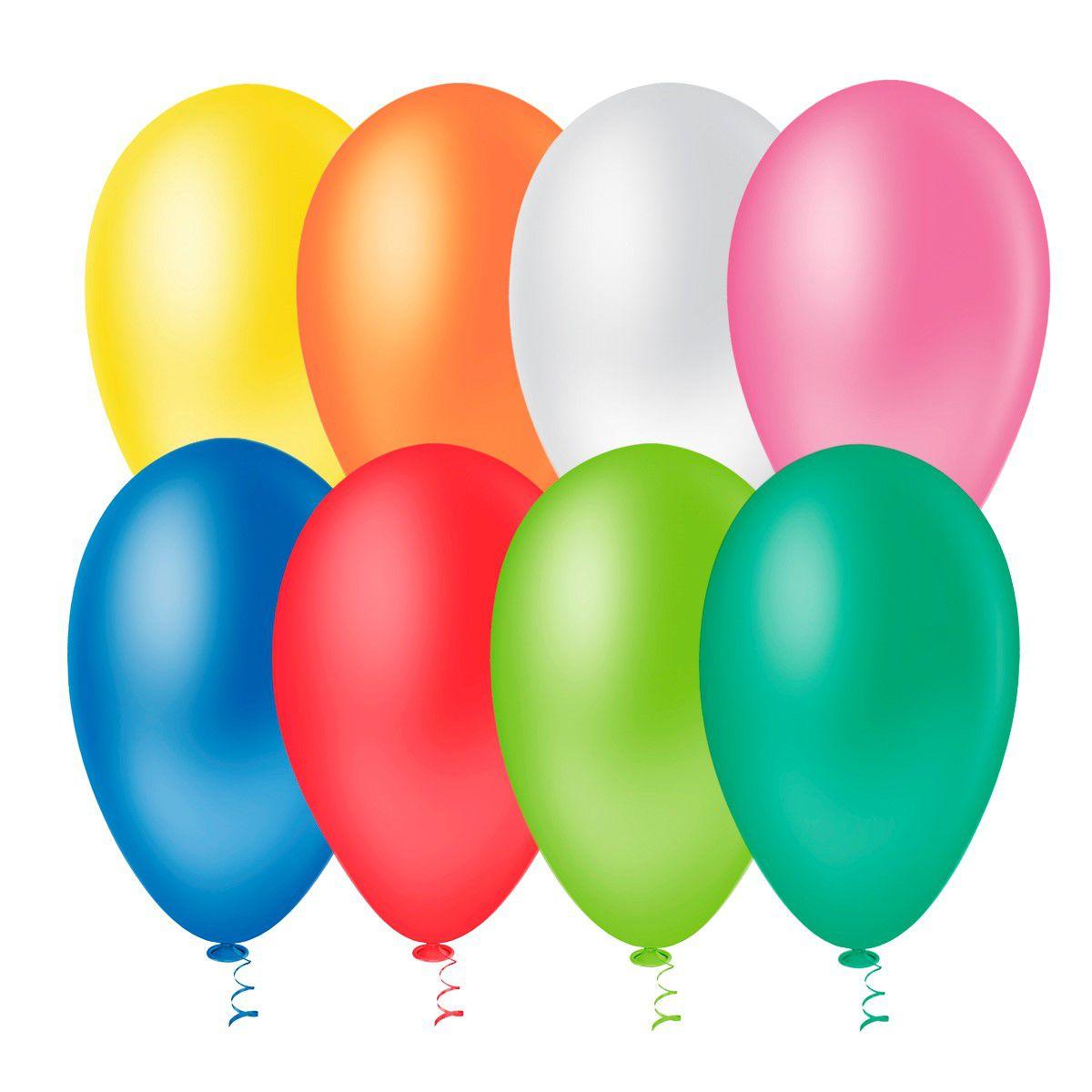 Balão Bexiga para Festa Numero 9 pacote com 50 unid.