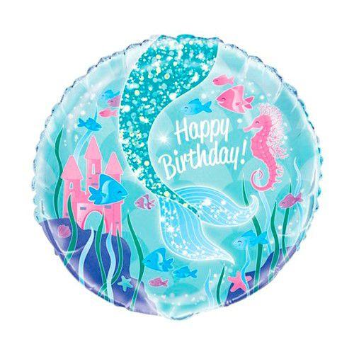 Balão Metalizado de Sereia