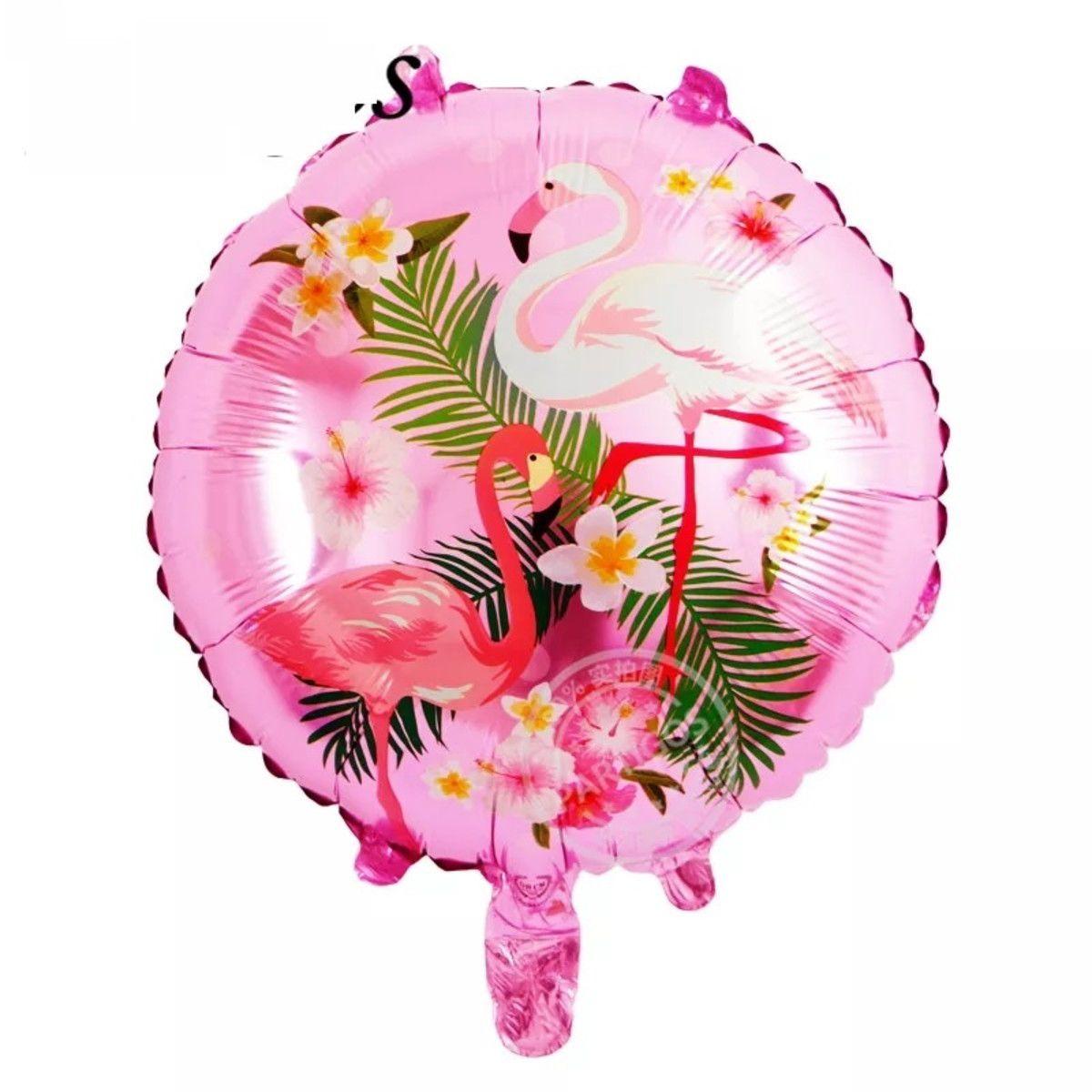 Balão Metalizado Flamingo 45 cm