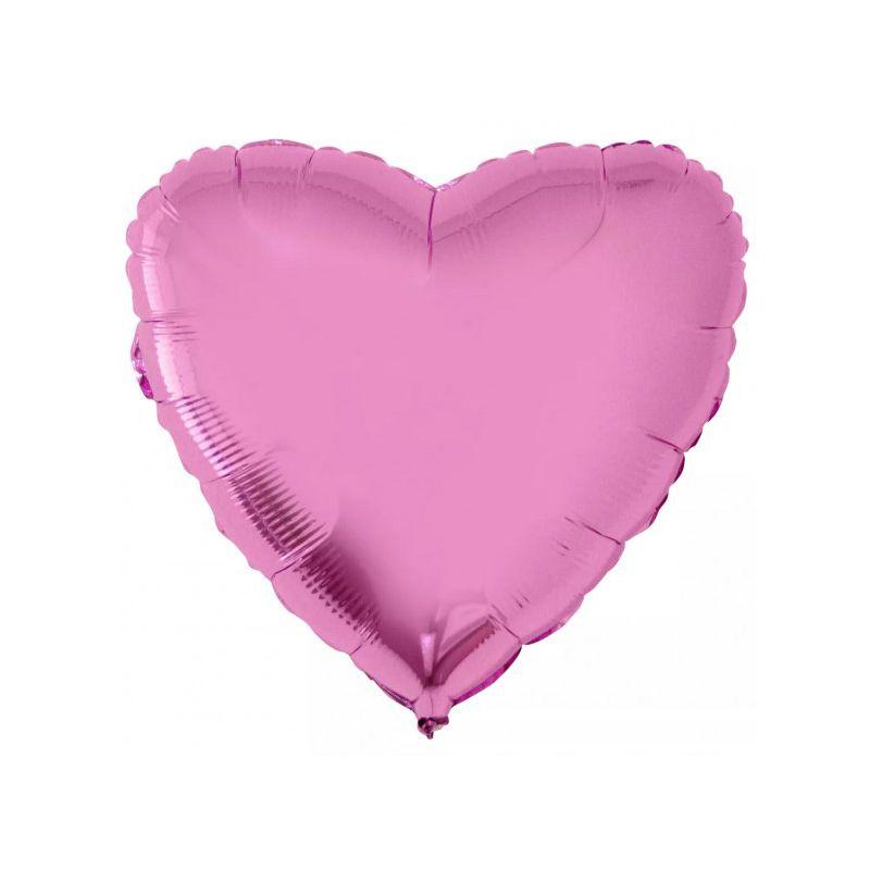 Balão Metalizado para Festa Coração Rosa