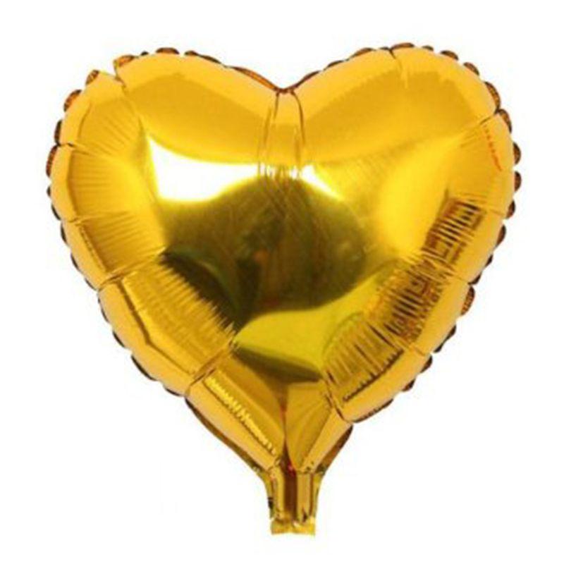 Balão para Festa metalizado Coração Dourado