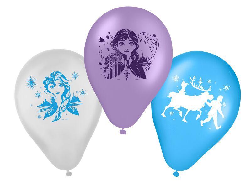 Balões de Aniversário Bexigas da Frozen 2 - pacote com 25 unid