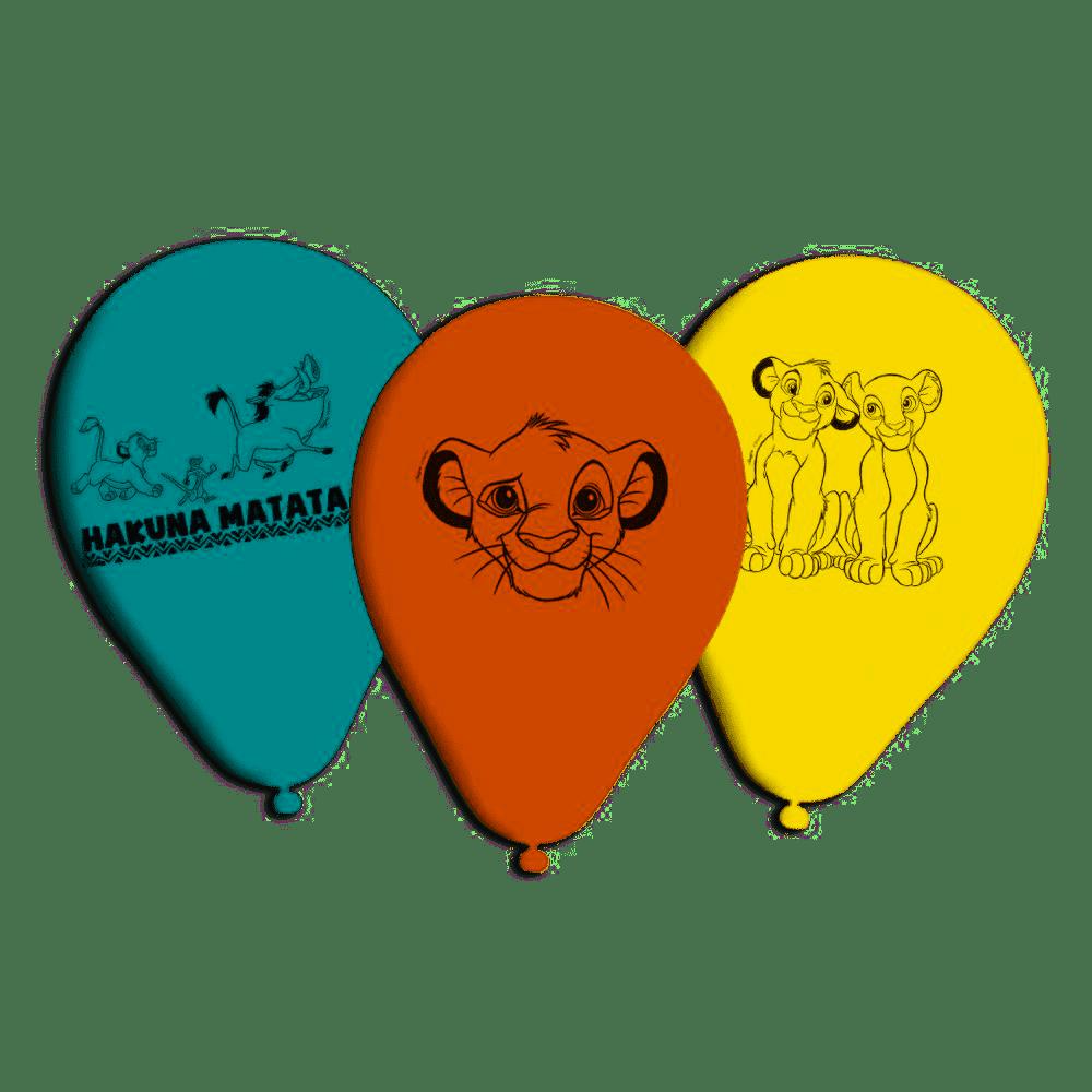 Balões de Aniversário Bexigas do Rei Leão pacote com 25 unid