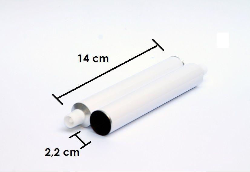 Bisnagas de Brigadeiro de alumínio 30 ml Atacado caixa com 154 unid