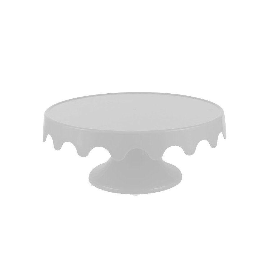 Boleira plástica para enfeite de mesa 28x12