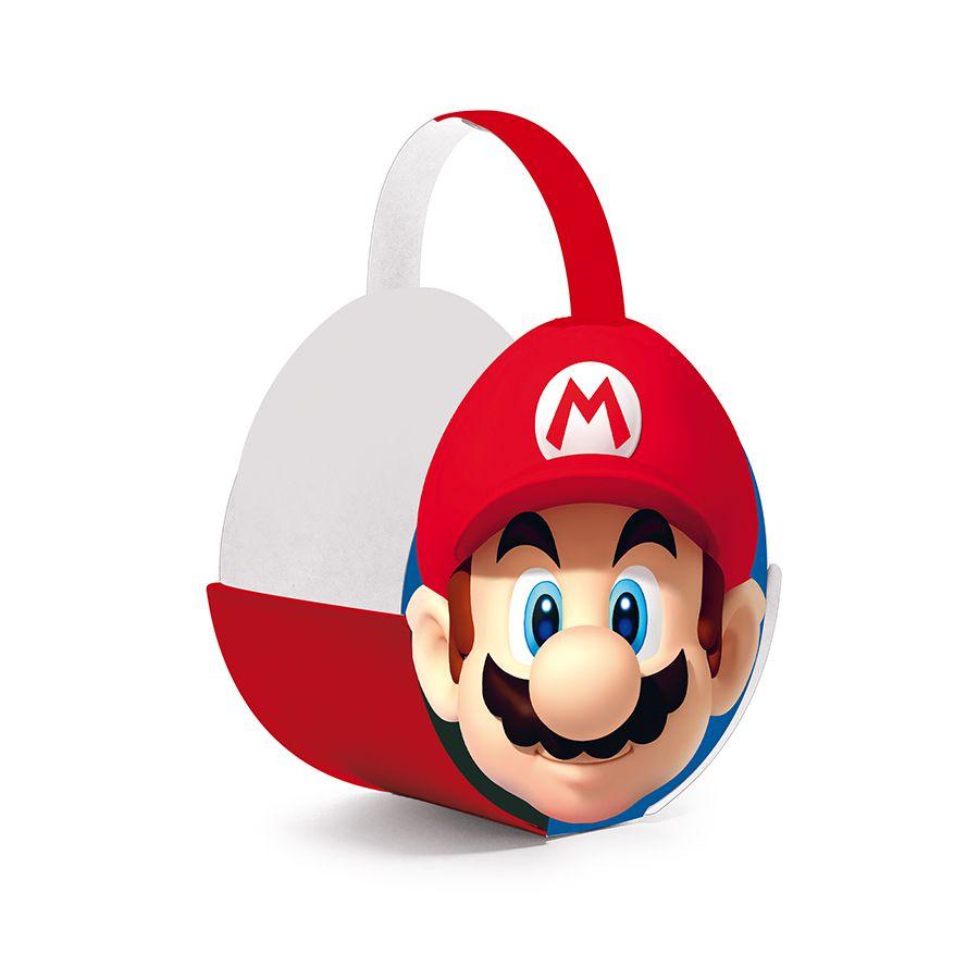 Cachepô para decoração de mesa de Festas Super Mario