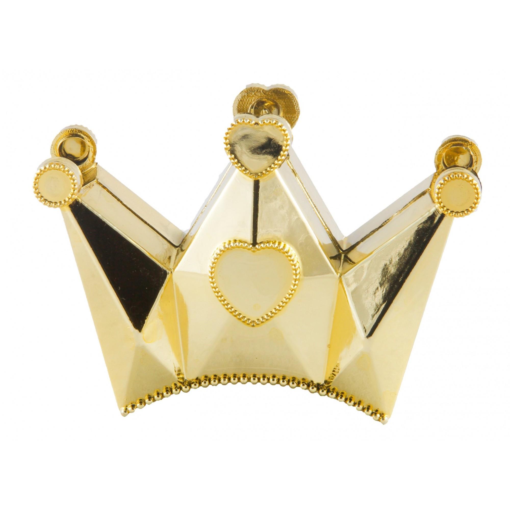 Caixa Coroa para Lembrancinhas Metalizado kit com 12 unid