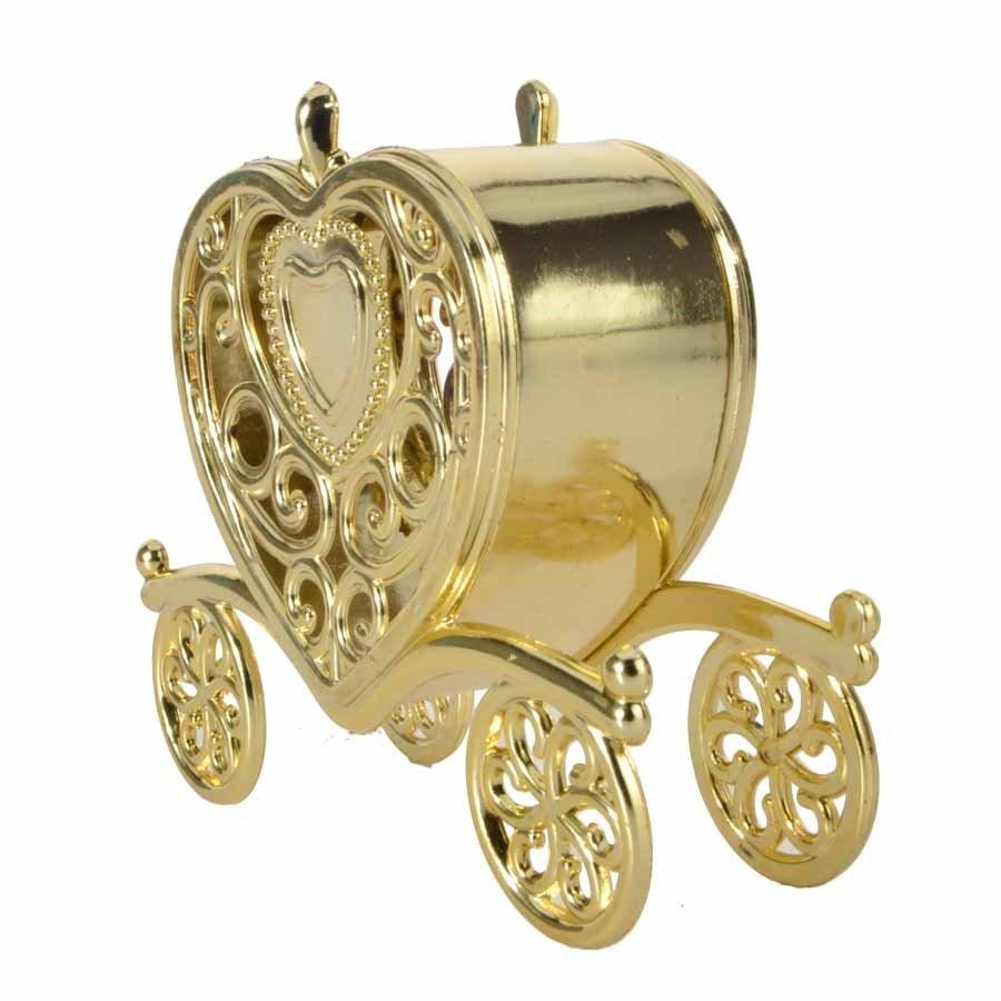 Caixinha Carruagem para Lembrancinha Luxo kit com 12 unid