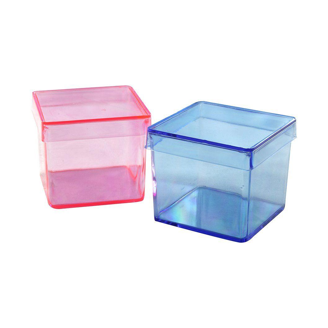 Caixinha de acrílico 4x4 colorida kit com 10 unid