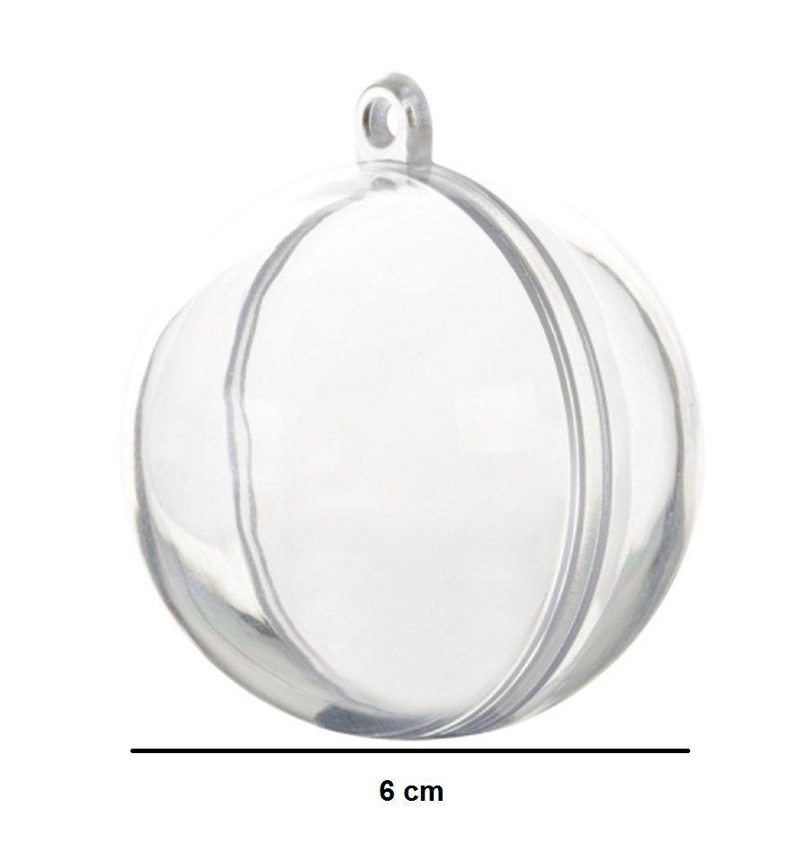 Caixinha de Acrílico Esfera kit com 10 unid