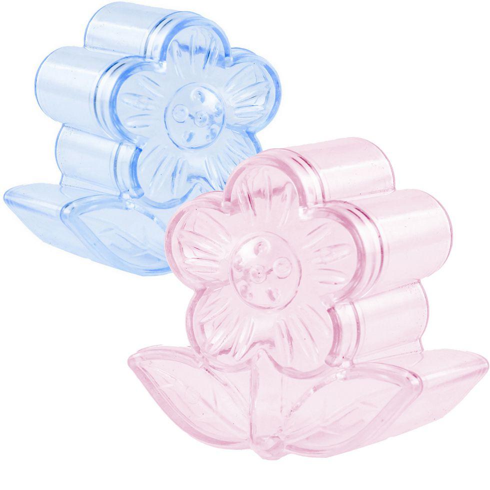 Caixinha de Acrílico formato de Flor kit com 12 Unid