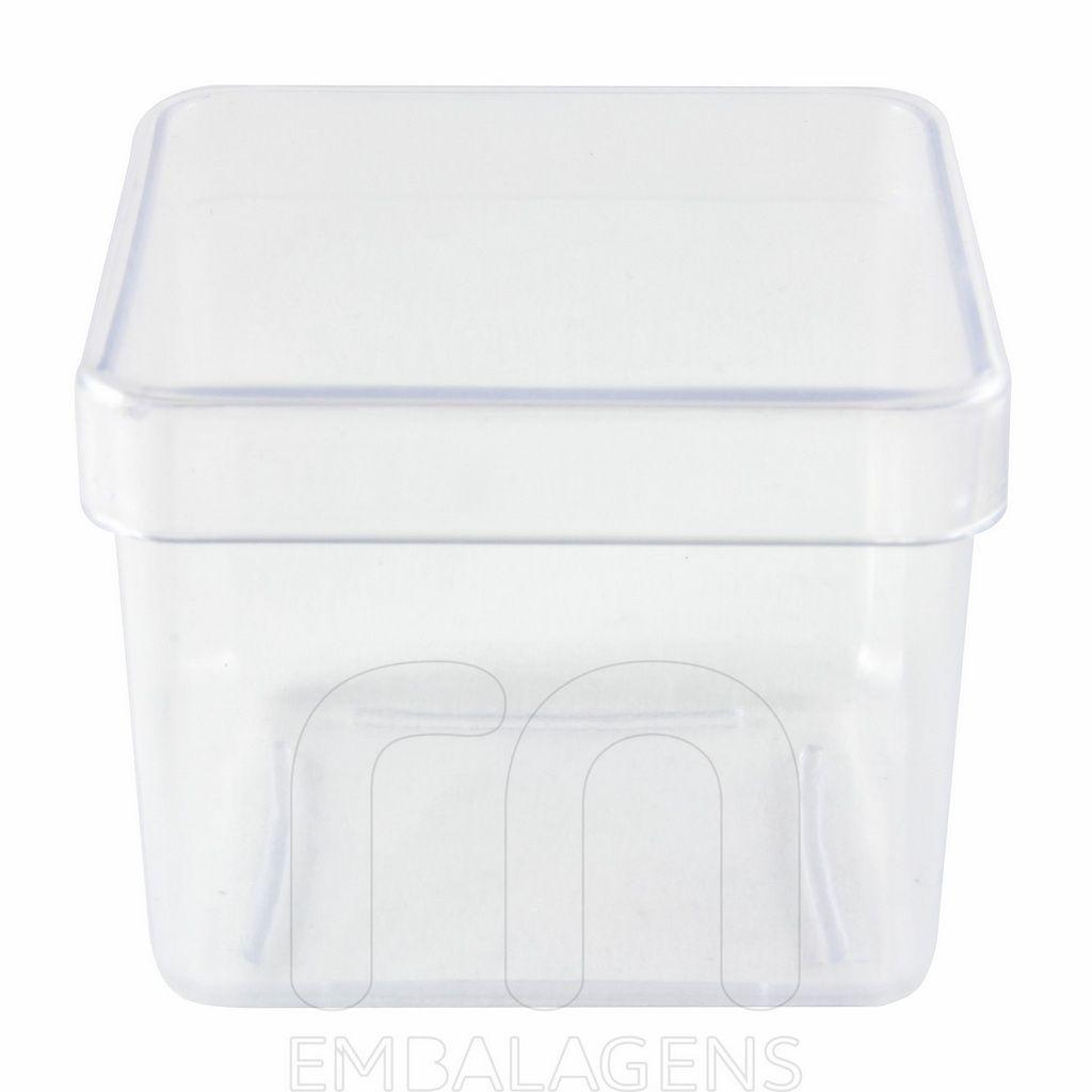 Caixinha de Acrílico para Lembrancinha 4x4 kit com 10 unid