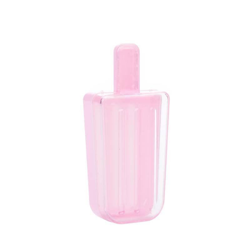 Caixinha de acrílico Picolé Rosa kit com 6 unid