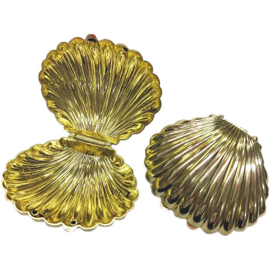 Caixinha de Concha luxo Dourada kit com 12 unid