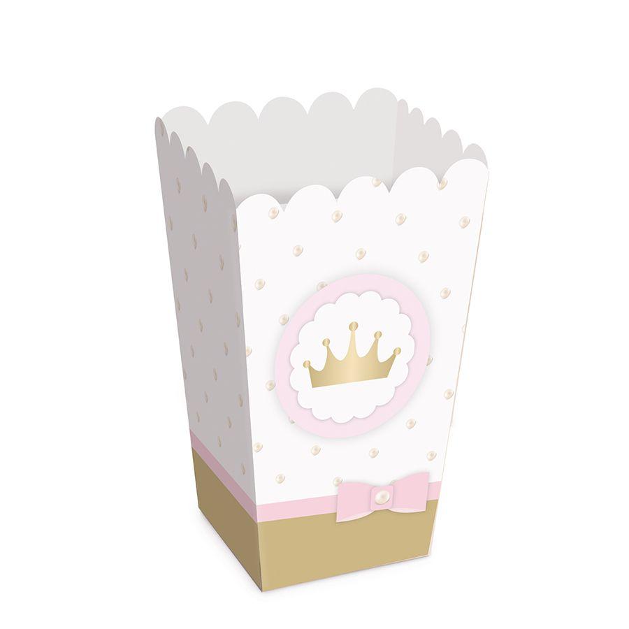 Caixinha de Pipoca Festa Princesa kit com 10 unid