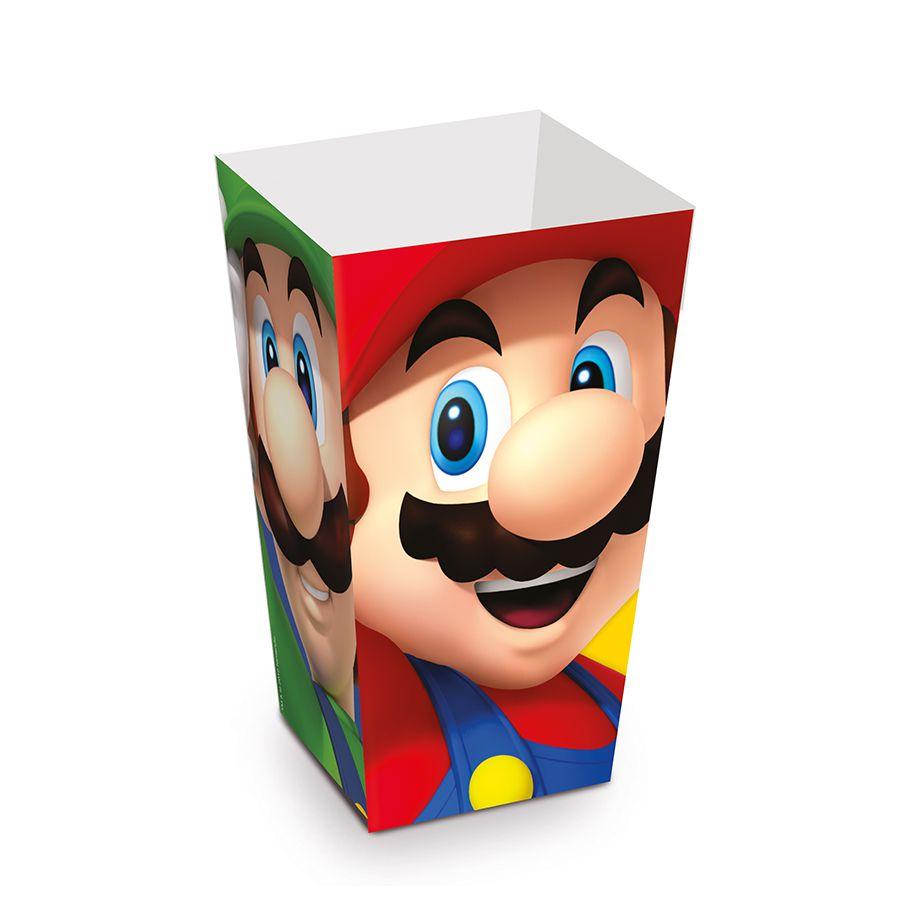 Caixinha de Pipoca Super Mario kit com 10 unid