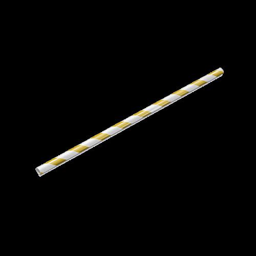 Canudo de Papel Amarelo Pacote com 100 unid
