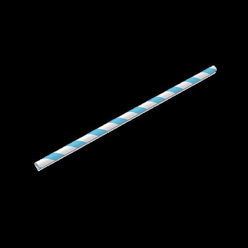 Canudo de Papel Azul Bebê Pacote com 20 unid