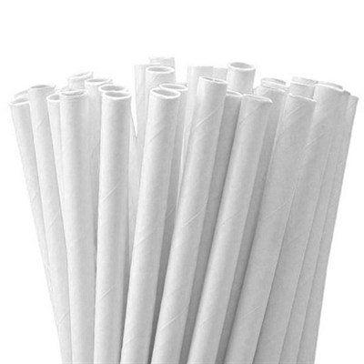 Canudo de Papel Branco pct com 100