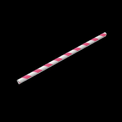 Canudo de Papel Pink Pacote com 20 unid