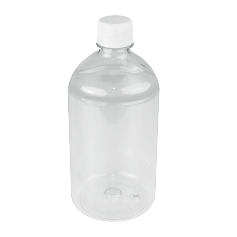 50 Frasco PET de 500 ml para com tampa rosca lacre