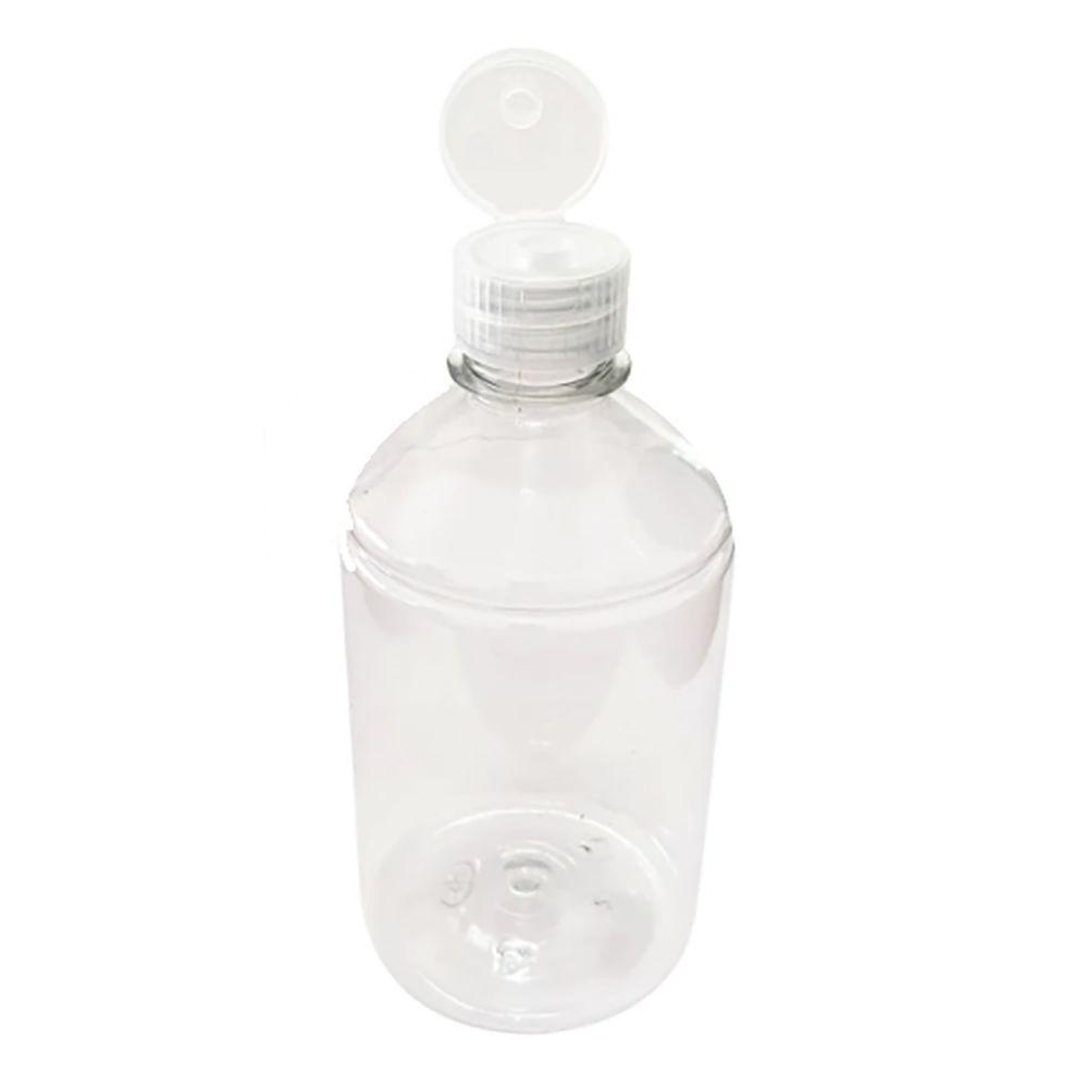 5 Frasco plástico para álcool em Gel 250 ml tampa Flip Top