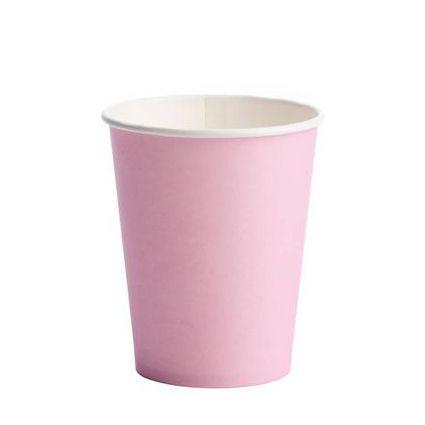 Copo Descartável de Papel 270 ml Liso Rosa pacote c/ 10 unid