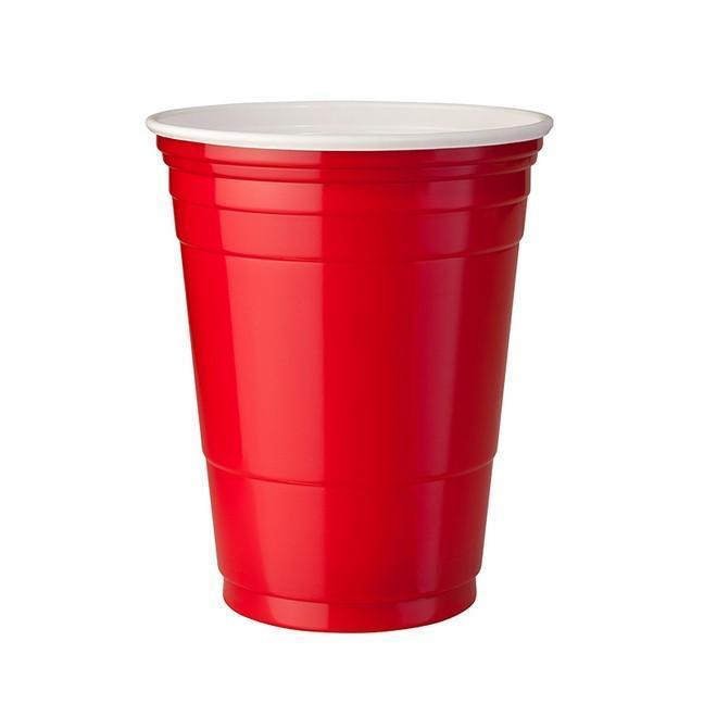 Copo Descartável de plástico Estilo Festa Americana Vermelho pct com 25 unid