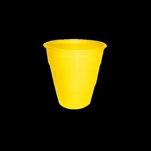 Copo Plástico Resistente de 210 ml Amarelo kit com 10 unid