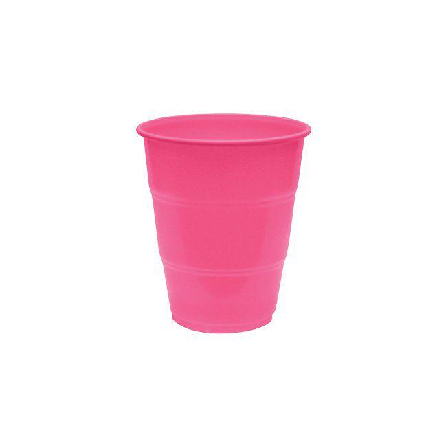 Copo Plástico Resistente de 210 ml Pink kit com 10 unid