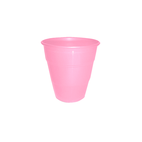Copo Plástico Resistente de 210 ml Rosa Bebê kit com 10 unid