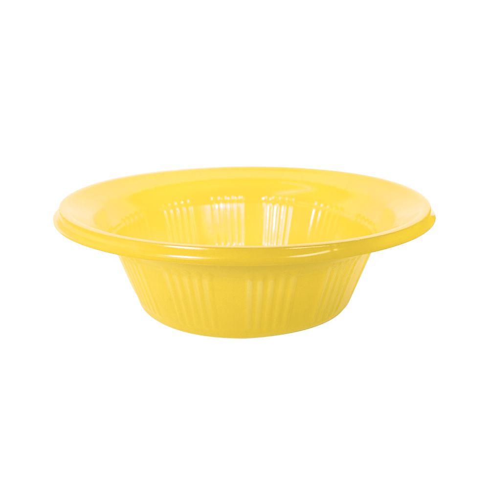 Cumbuca Descartável 12 cm Amarela Pct com 10 unid.