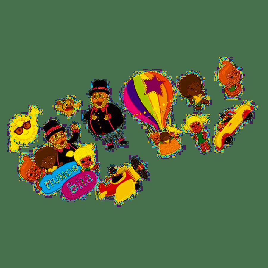 Decoração de Festas Mundo Bita kit com 10 unid