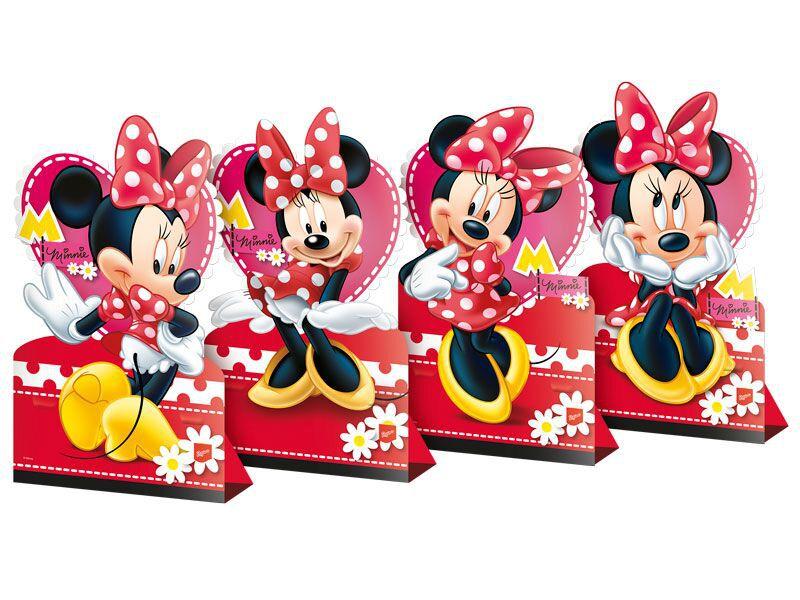 Decoração de Mesa da Minnie kit com 4 unid