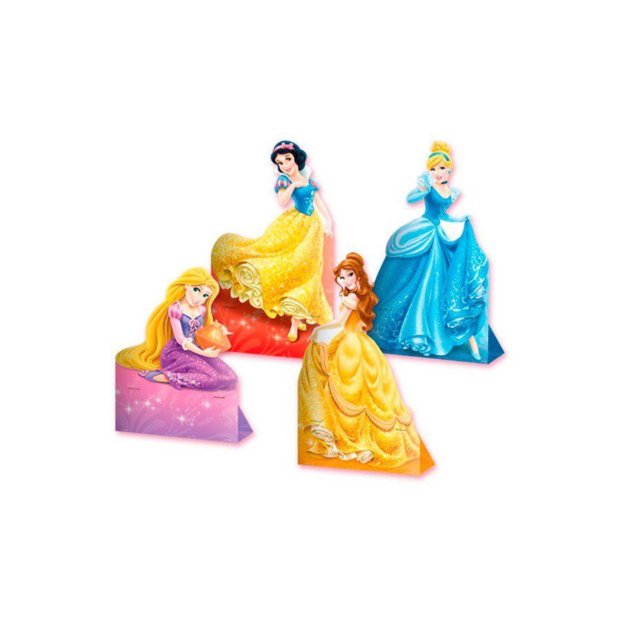 Decoração de Mesa das Princesas da Disney kit com 4 unid