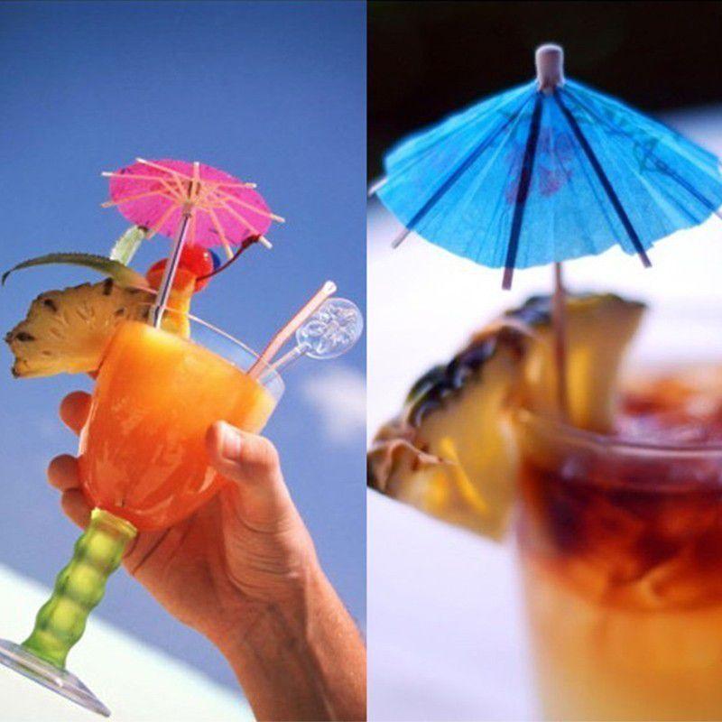 Enfeite para Drinks Palito de Guarda-Chuva pacote com 12 unid