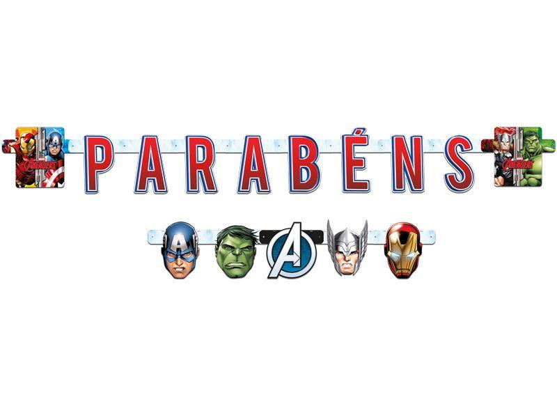 Faixa de Parabéns para Festa dos Avengers