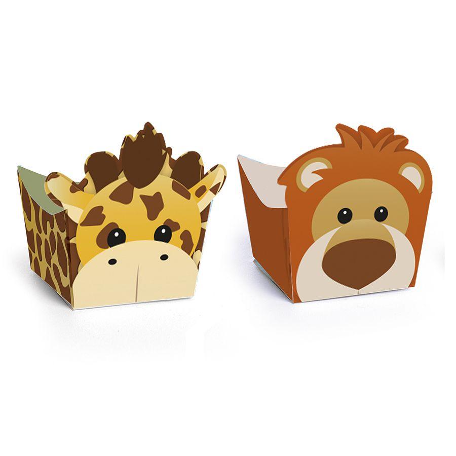 Forminha para doces de Festa Safari Leão e Girafa com 24 unid