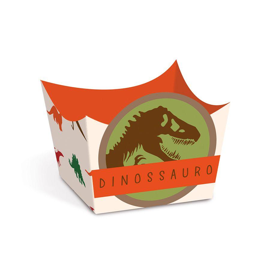 Forminha para Doces Festa Dinossauros pct com 24 unid