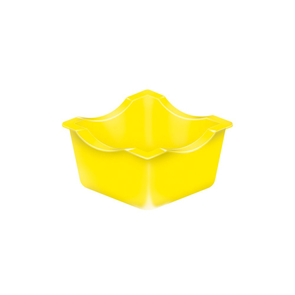 Forminhas para Doces Termoformadas Amarela pct com 50 unid