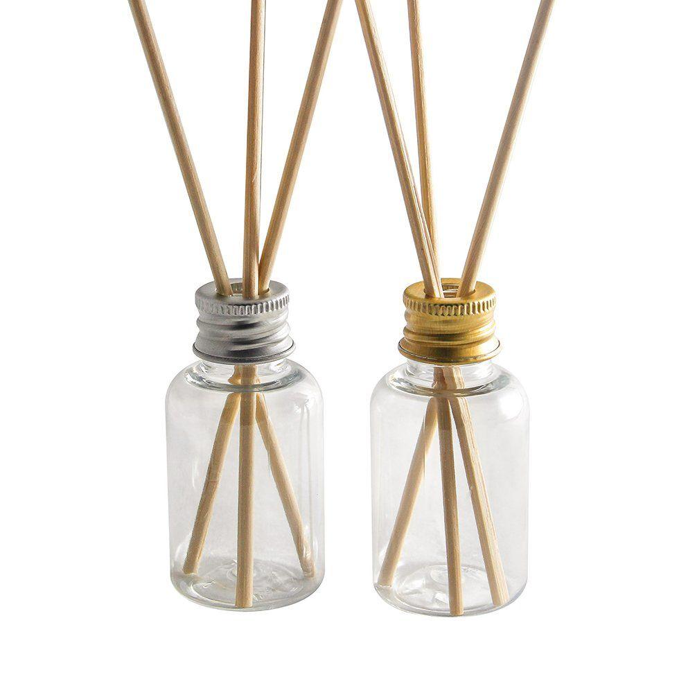 Frasco Aromatizador 30 ml Plástico com Varetas Cilíndrico kit com 10 unid