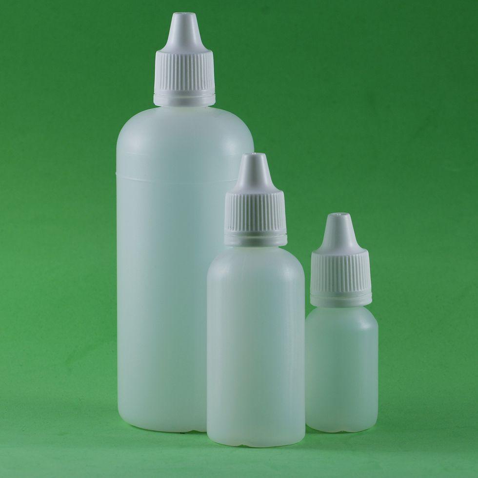 Frasco conta gotas 120 ml plástico gotejador Natural kit com 10 unid