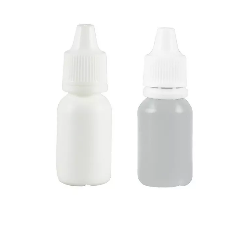 Frasco conta gotas 60 ml plástico gotejador branco kit com 100 unid