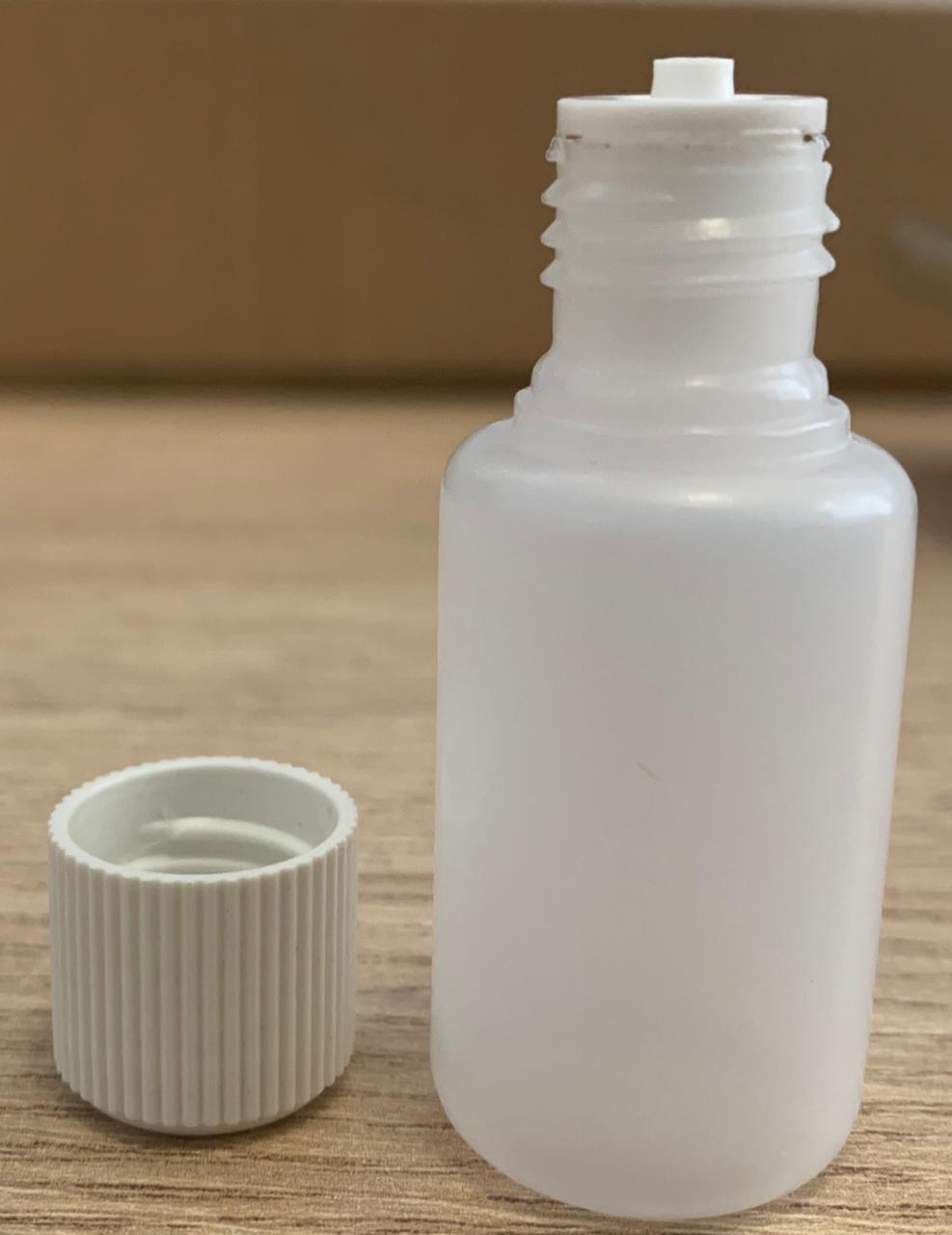 Frasco conta gotas de Plástico Sem Lacre 10 ml kit com 10 unidades