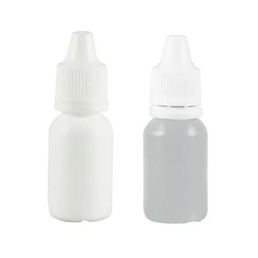 Frasco conta gotas gotejador de plástico 15 ml pct com 100 unid