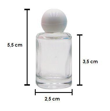 Frasco de perfume 9 ml vidro kit com 10 unid