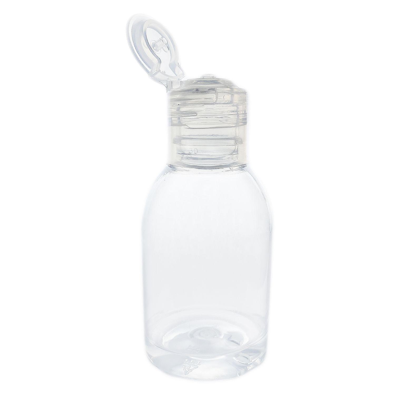 50 Frasco de Plástico PET de 100 ml para álcool gel flip top