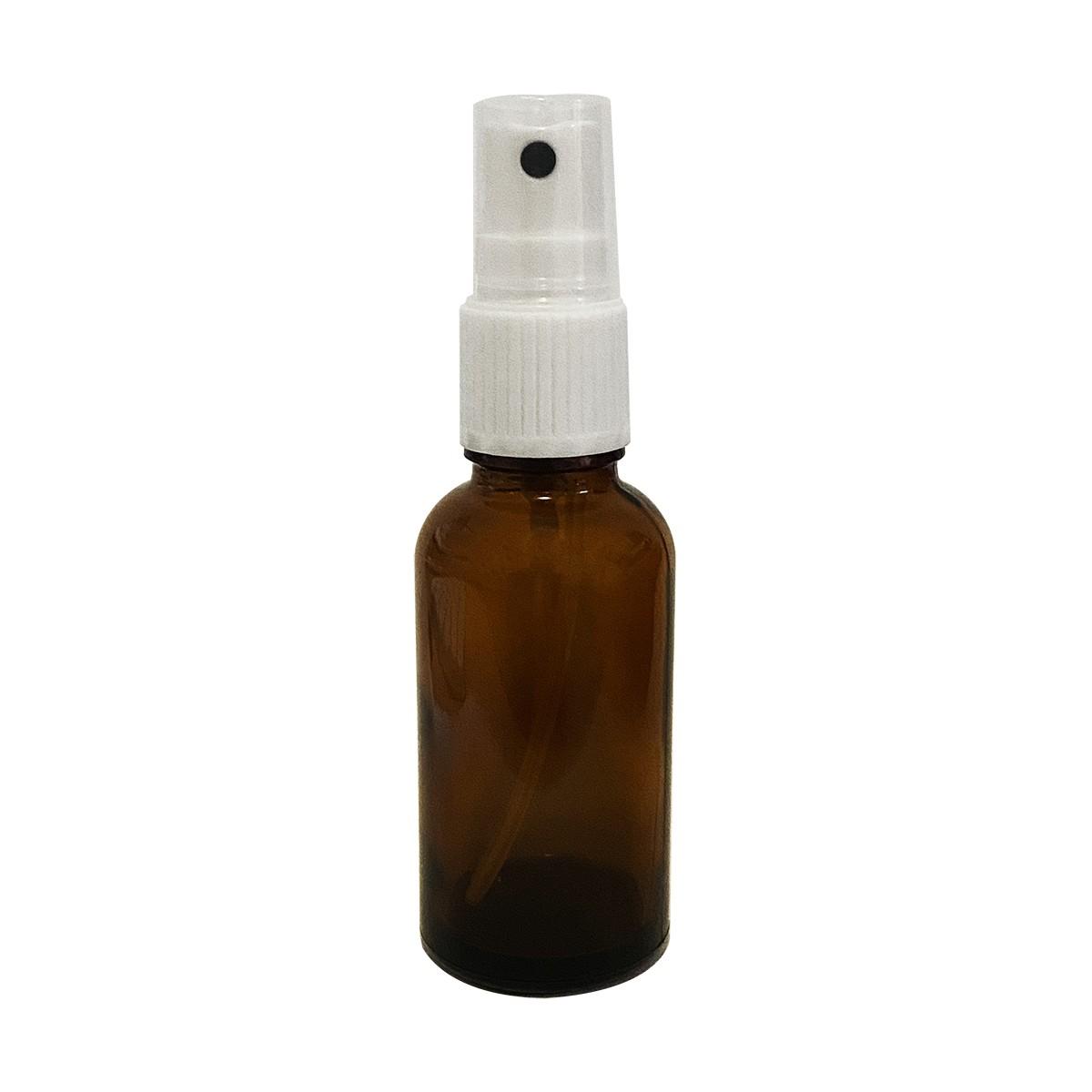Frasco de Vidro Âmbar de 30 ml com Válvula Spray 10 unid