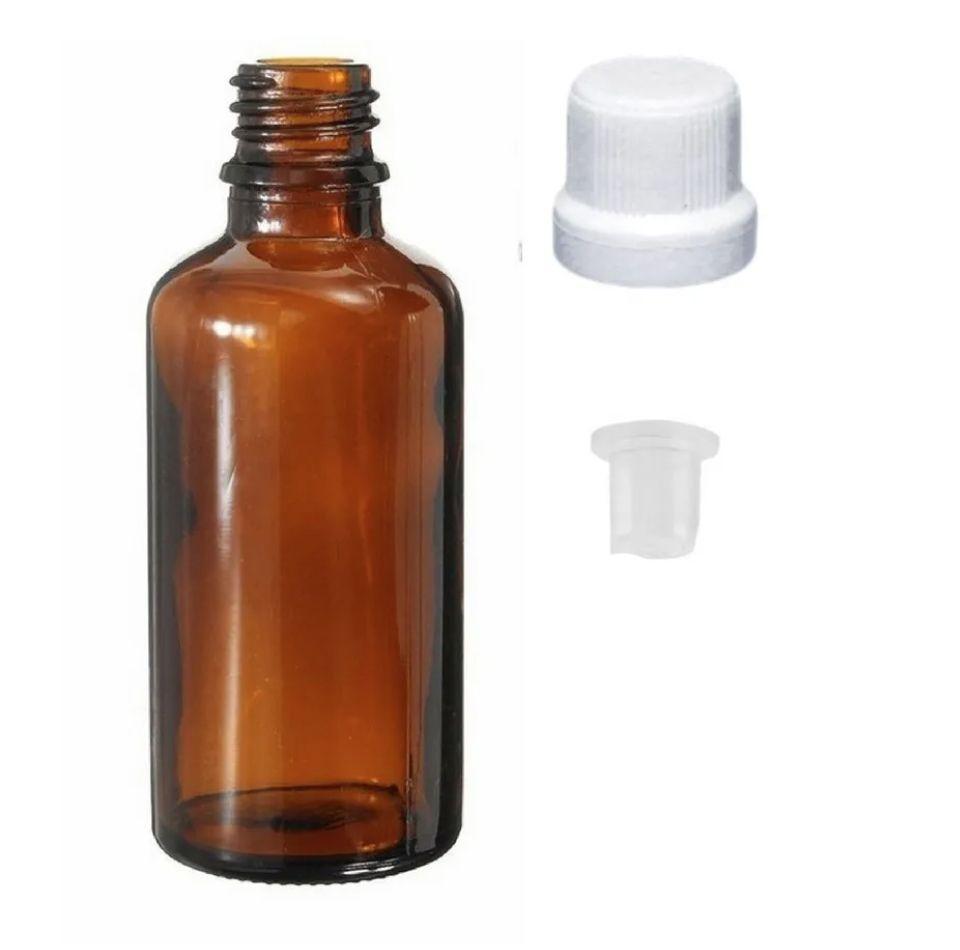 Frasco de vidro âmbar gotejador 20 ml kit com 10 unid